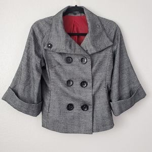 Express Design Studio Gray Blazer Wool Blend 2